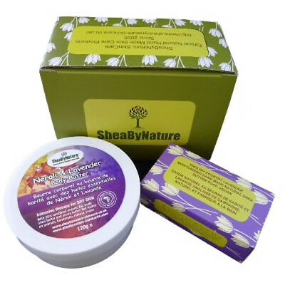 SheaBynature Neroli and Lavender body butter gift set with 250ml Shea body butte