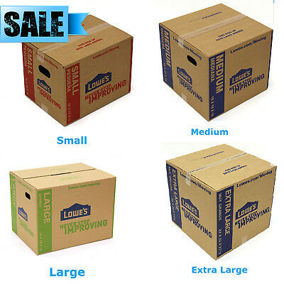 5-Pack Cardboard Boxes Moving Plain Shipping Packing Supplies - Multiple Sizes