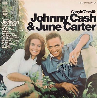 """Johnny Cash & June Carter Hand Signed Autograph Lp Album """"carryin' On With"""""""