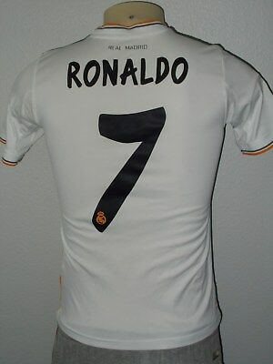 64155d77 Adidas Cristiano Ronaldo #7 Real Madrid Fly Emirates Soccer Jersey Youth  Large