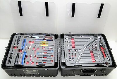 Military Electronic Tool Kit W Custom Rolling Travel Case