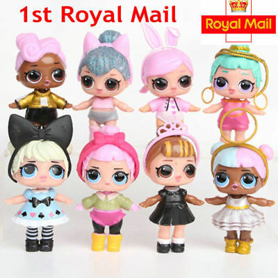 8PCS LOL SURPRISE DOLL Blind Mystery Figure Cake Topper Toy + Accessories