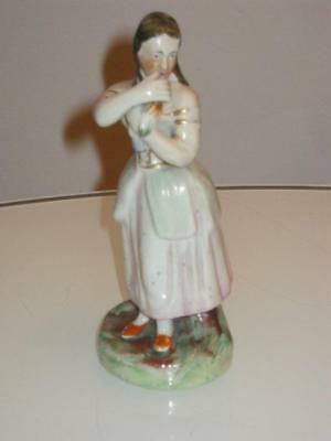 STUNNING 19th CENTURY ANTIQUE STAFFORDSHIRE PEARLWARE FIGURE