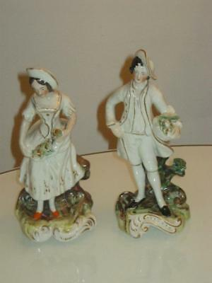 2 STUNNING 19th CENTURY ANTIQUE STAFFORDSHIRE PEARLWARE FIGURES