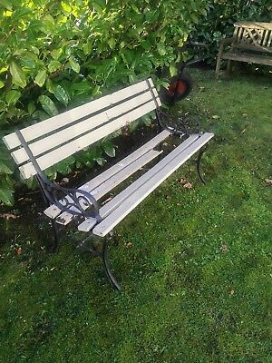 Stupendous Vintage Old Garden Bench Outdoor Seating Weathered Iron Ncnpc Chair Design For Home Ncnpcorg