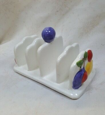 Country Kitchen by Rayware Toast Rack Raised Fruit Pattern .