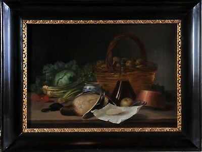 Antique table still life, 19th century, great quality