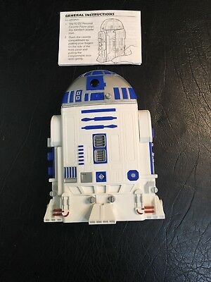 Star Wars 1997 Tiger Electronics R2D2 Cassette Player with instruction manual
