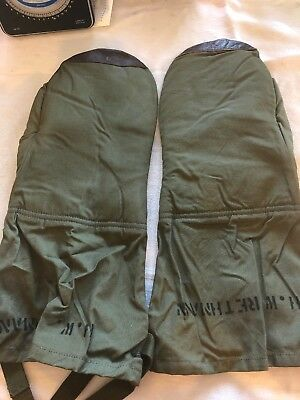 WW2 AAF US Army Air Force Type A-12 Heavy Bomber Gunner Mittens Leather Gloves