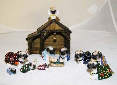 Heaven's Paws Pug Retired 2007 Collectible Nativity - RARE