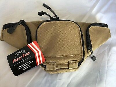 TAN Molle Fanny Pack Bag Pistol Gun Pouch Case Carrier Holster Holder Brand New