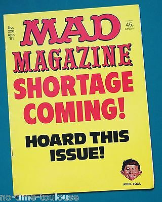 MAD Magazine Number 228. April 1981. British Edition.