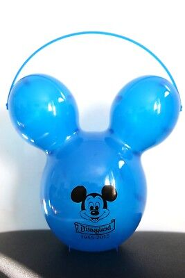 NEW Disneyland Mickey Mouse Balloon Head 60th Anniversary Popcorn Bucket Blue