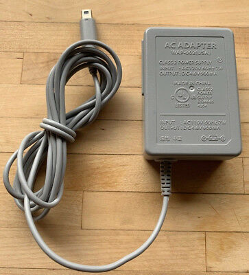 Official Nintendo 3DS AC Power Adapter Charger WAP-002 (USA) 2DS XL DSi LL Excl