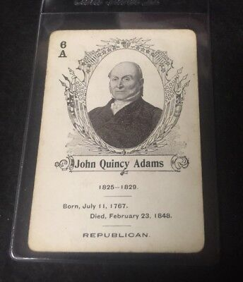 c.1900 In The White House Card Game John Quincy Adams  **05535