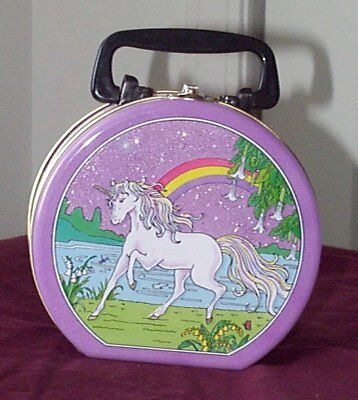 *LooK* Vintage Magical Unicorn Lunch Box Tin or Tote