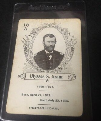 c.1900 In The White House Card Game Ulysses Grant  **05545