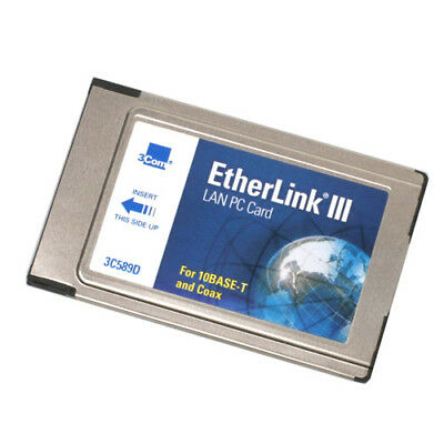 3Com EtherLink III 3C589D - Lan PC Card (PCMCIA) for 10Base-T and Coax USED