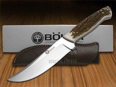 BOKER ARBOLITO Deer Stag Full Tang Fixed Blade T6MoV 02BA309H Knife