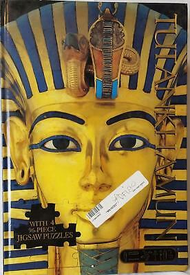 King Tut Tutankhamun Egyptian Jigsaw Four Puzzles In One Book Hardcover New !!!