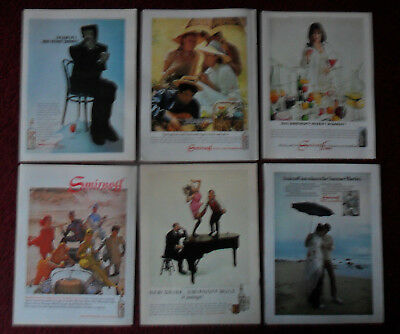 Lot of 27 Different SMIRNOFF VODKA Magazine Print Ads ~ Leaves You Breathless