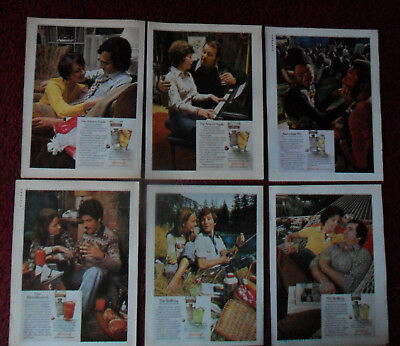 Lot of 33 Diff SMIRNOFF VODKA Magazine Print Ads ~ Couples Mixed Drink Recipes +