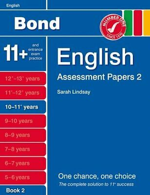 Bond Assessment Papers English 10-11+ yrs Book 2 by Lindsay, Sarah Book The