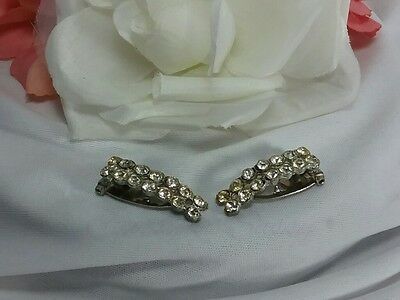 Vintage Estate Silver Fancy Elegant Ladies Scarf Mink Fur Clips