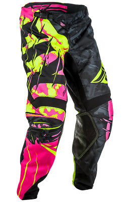 Fly Racing Kinetic Outlaw Mens MX Offroad Pants Black/Neon Pink