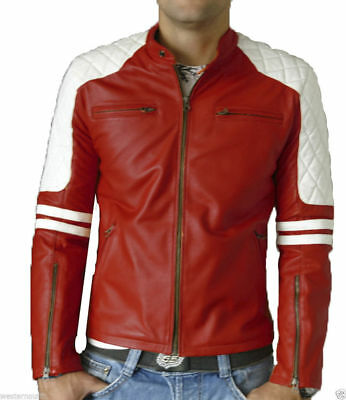 Winter Premium Model Quilted Lambskin Biker Leather Jacket For Dashing Men MJ104