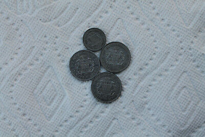 Germany Notgeld Coins 1/10 mark (3), 1/100 Mark, Hamburg 1923, total 4 coins