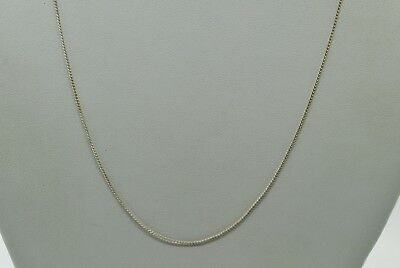 """Sterling Silver 19.25"""" Small Dainty Curb Style Chain Linked Necklace#fmb229"""