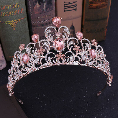 7.3cm High 6 Colours Heart Crystal Wedding Bridal Party Pageant Prom Tiara Crown