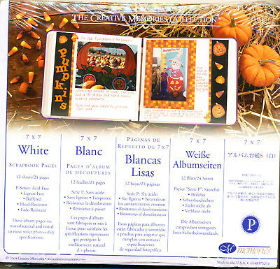 Creative Memories 7x7 OLD Style White Pages