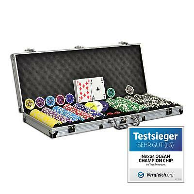 Pokerkoffer Pokerset 500 Laser Pokerchips Poker Komplett Set 12 g Chips