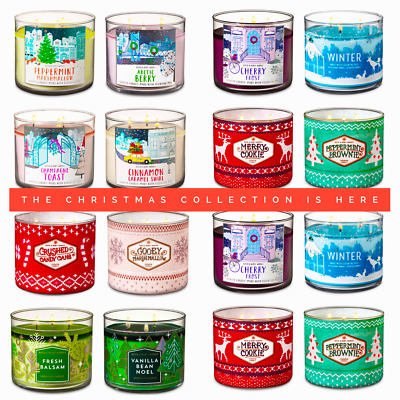 BATH AND BODY WORKS 2018 3 Wick Candle NEW FALL WINTER CHRISTMAS HERE NOW!!