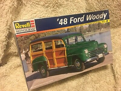 "Unopened! Revell/Monogram 1:25 Scale 1948 Ford Deluxe ""Woody"" Wagon Model Kit"