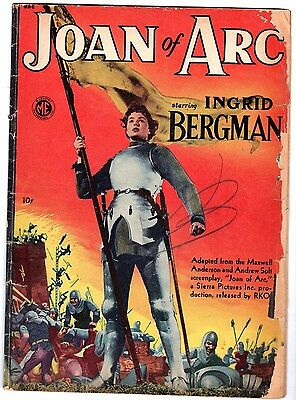Joan of Arc #A-1 21- Ingrid Bergman Photo Cover, Good - Very Good Condition