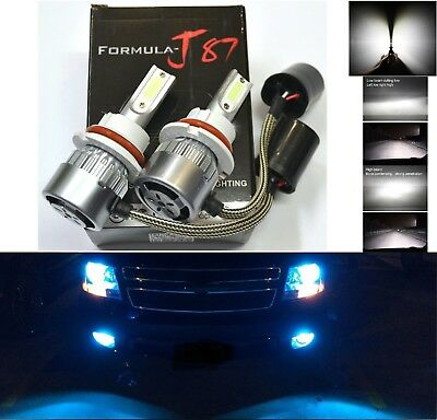 LED Kit C6 72W 9004 HB1 8000K Blue Two Bulbs Head Light Dual High Low Beam Lamp