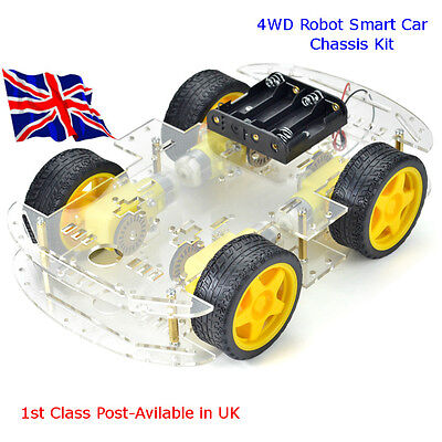 4WD Robot Smart Car Chassis Kits with Speed Encoder for Arduino Raspberry Pi