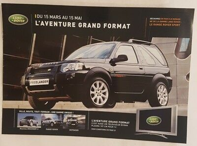 Lot de catalogues Land Rover
