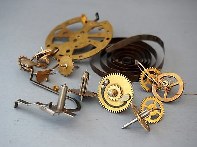 Bag Of Original Smith Clocks Cogs Gears and Springs Parts Steampunk