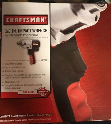 "Craftsman 1/2"" Drive Air Impact Wrench Pneumatic Hammer Gun Tool for Compressor"