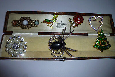 Vintage Jewellery Gorgeous Mixed Job Lot Of Brooches Pins Various Eras