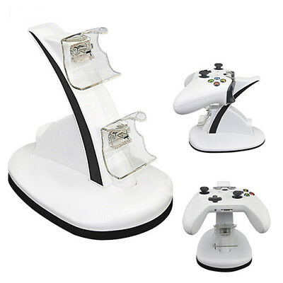 Xbox One Controller Dual USB Charger Docking Station Charging Stand Dock White