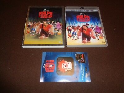 Wreck It Ralph * Region A * Spanish 3D Slipcase, Sleeve & Jewel Case Insert Only