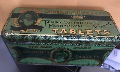 1900 ROBERT  PIERCE'S EMPRESS BRAND TABLETS FOR supression of MENSTRUAL FUNCTION