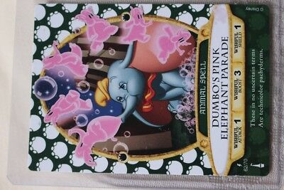 Sorcerers Of The Magic Kingdom LIGHTNING Spell Card #62 Dumbo's Pink Elephant Pa