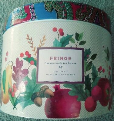 Fringe Fine Porcelain Tea For One Barnes & Noble Exclusive Tea Set Original Box