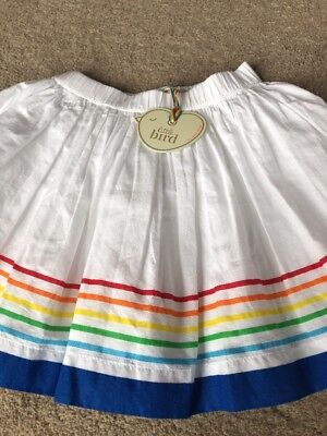 Little Bird By Jools Oliver White Skirt With Rainbow Stripes 18-24 Months